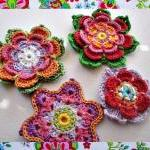 3 Colorful Flowers Crochet..