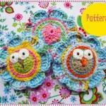 Lovely Flowers With Owls C..